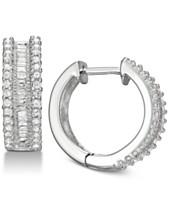 52ba4bb83 Diamond Hoop Earrings (1/2 ct. t.w.) in Sterling Silver