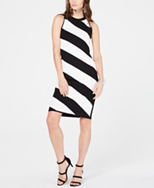 I.N.C. Sleeveless Striped Sweater Dress, Created for Macy's
