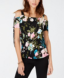 INC Printed Tie-Sleeve Top, Created for Macy's