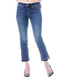 Nicole Miller New York Tribeca Mid-Rise Split Cuff Straight Jean