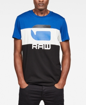 G-Star Raw T-shirts G-STAR RAW MEN'S GRAPHIC 41 COLORBLOCKED LOGO T-SHIRT