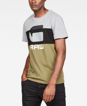 G-Star Raw T-shirts G-STAR RAW MEN'S GRAPHIC 41 COLORBLOCKED LOGO T-SHIRT