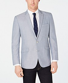Men's Slim-Fit Blue/White Tic Sport Coat