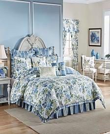 Waverly Floral Engagement 4 Piece Queen Comforter Set