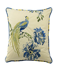 Waverly Floral Engagement 18-inch Embroidered Decorative Pillow