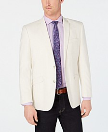 Men's Slim-Fit Stretch Cream Textured Sport Coat