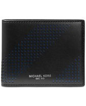aa8011b49f14 Michael Kors Men s Perforated Leather Billfold
