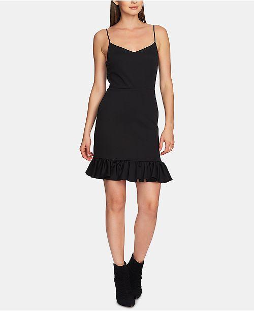 1.STATE Ruffle-Hem A-Line Dress