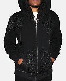 Heritage America Men's Zip-Front Graphic Hoodie