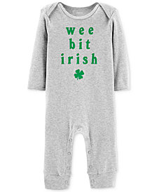 Carter's Baby Boys or Girls Wee Bit Irish Graphic Cotton Coverall
