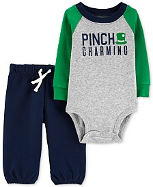 ad85c2f0ae Carter s Baby Boys 2-Pc. Shamrock Graphic Bodysuit   Pants Set ...