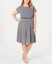 Blue Plus Size Dresses - Macy\'s