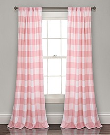 "Kelly Check 52"" x 84"" Curtain Set"