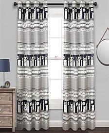 "Llama Stripe 52"" x 84"" Curtain Set"