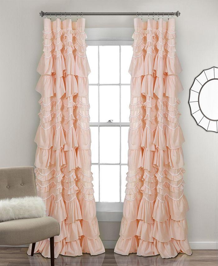 """Lush Décor - Kemmy Ruffle 52"""" x 84"""" Curtain Panel"""
