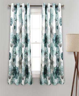 """Leah Floral 52"""" x 63"""" Curtain Set"""