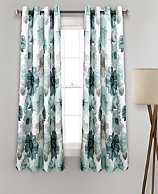 "Leah Floral 52"" x 63"" Curtain Set"