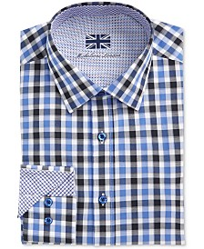 Michelsons of London Men's Slim-Fit Multi Check Dress Shirt