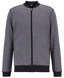 BOSS Men's Regular/Classic Fit Full-Zip Cotton Sweatshirt