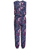 5b362fa2f488 Epic Threads Big Girls Floral-Print Jumpsuit