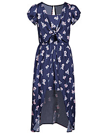 Epic Threads Big Girls Floral-Print Maxi-Overlay Romper, Created for Macy's