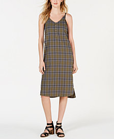 Hurley Juniors' Cotton Plaid Dress