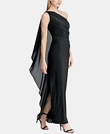 Lauren Ralph Lauren Georgette-Cape Gown
