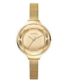 RumbaTime Orchard Gem Mesh Gold Women's Watch