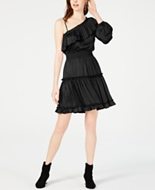 Bar III One-Shoulder Ruffled Dress, Created for Macy's