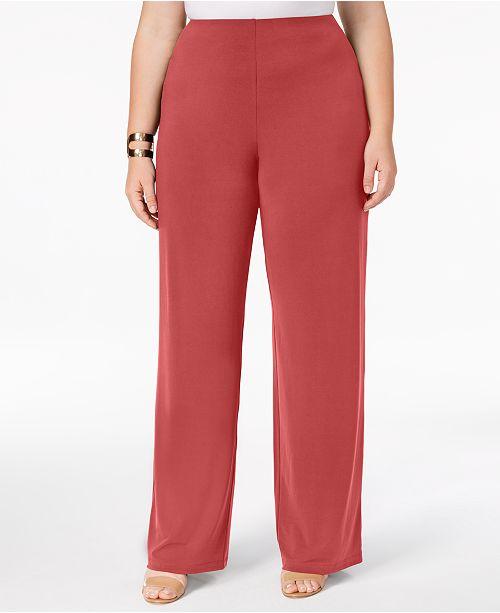 b94e8449f2f ... Alfani Plus   Petite Plus Size Knit Wide-Leg Pant