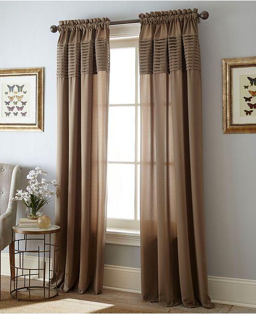 """Nanshing Landford Rod Pocket Single Curtain Panel, DarkRed, 54 x 84"""""""