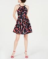 0d52d9f2e64b0c Vince Camuto Floral-Print Fit   Flare Dress