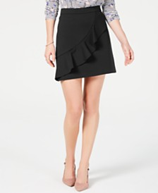 Maison Jules Ruffled Mini Skirt, Created for Macy's