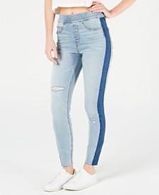 SPANX Side-Stripe Ripped Skinny Jeans
