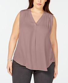 Alfani Plus Size V-Neck Top, Created for Macy's