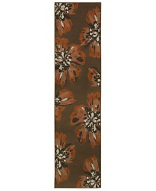 "CLOSEOUT! Oriental Weavers  Adrienne 4130C Brown/Orange 1'10"" x 7'6"" Runner Area Rug"