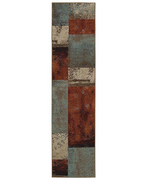 "Oriental Weavers CLOSEOUT!  Adrienne 4147A Multi/Multi 1'10"" x 7'6"" Runner Area Rug"