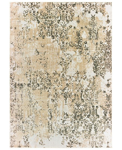 "Oriental Weavers Bowen 2067W Gray/Gold 5'3"" x 7'6"" Area Rug"