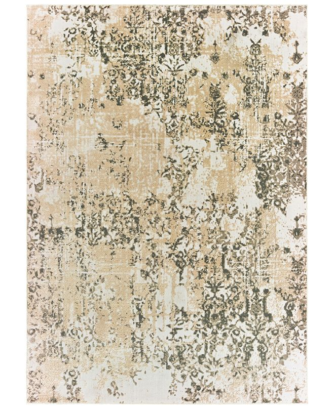 "Oriental Weavers Bowen 2067W Gray/Gold 3'10"" x 5'5"" Area Rug"