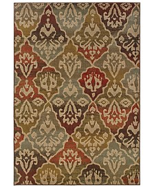 """CLOSEOUT! Oriental Weavers  Casablanca 4442C Multi/Beige 7'10"""" x 10'10"""" Area Rug"""