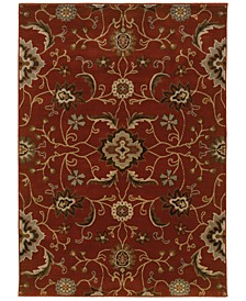 "CLOSEOUT!  Casablanca 4471B Red/Multi 7'10"" x 10'10"" Area Rug"