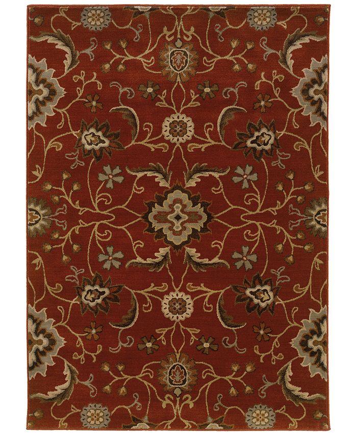 "Oriental Weavers - Casablanca 4471B Red/Multi 9'10"" x 12'10"" Area Rug"