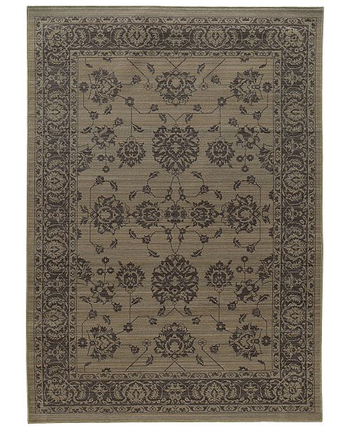 "Oriental Weavers Foundry 4924E Gray/Gray 5'3"" x 7'6"" Area Rug"
