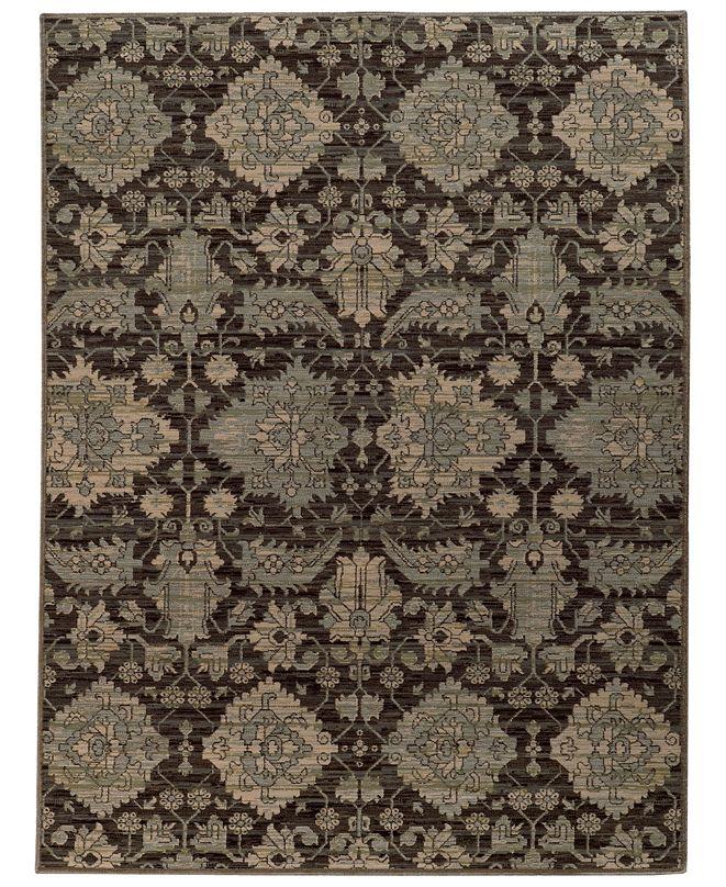 """Oriental Weavers Heritage 8124N Charcoal/Blue 3'10"""" x 5'5"""" Area Rug"""