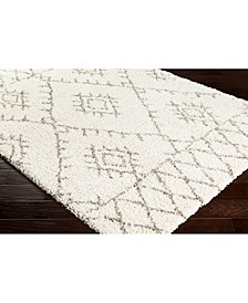 "Serengeti Shag SGT-2301 White 18"" Square Swatch"