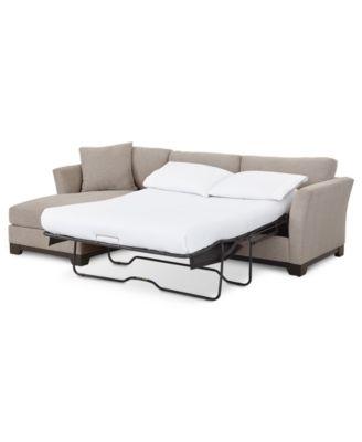 "Elliot II 107"" Fabric 2-Pc. Chaise Sleeper Sectional Sofa, Created for Macy's"