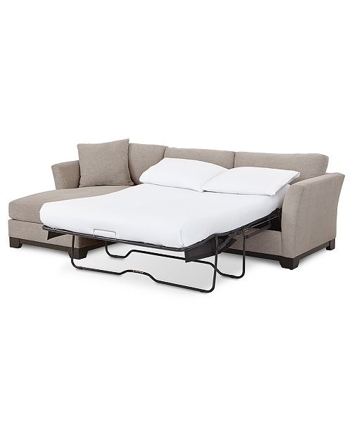 Fabric 2 Pc Chaise Sleeper Sectional