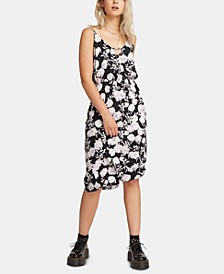 Juniors' Floral-Print Midi Dress