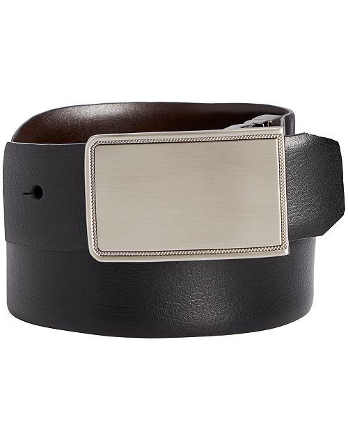 Perry Ellis Men's Rachel Plaque Belt