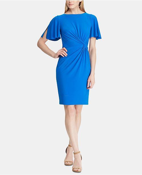 Lauren Ralph Lauren Petite Twisted-Knot Dress